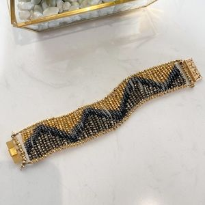 Jewelry - Beautiful Hand Beaded Flowing Ombré Bracelet